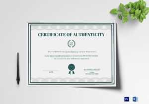 Brand Authenticity Certificate Template within Certificate Of Authenticity Template