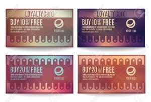 Bright And Colorful Customer Loyalty Card Or Reward Card Templates with regard to Customer Information Card Template