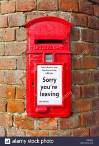 British Post Box With A Message That Reads Sorry You're pertaining to Sorry You Re Leaving Card Template