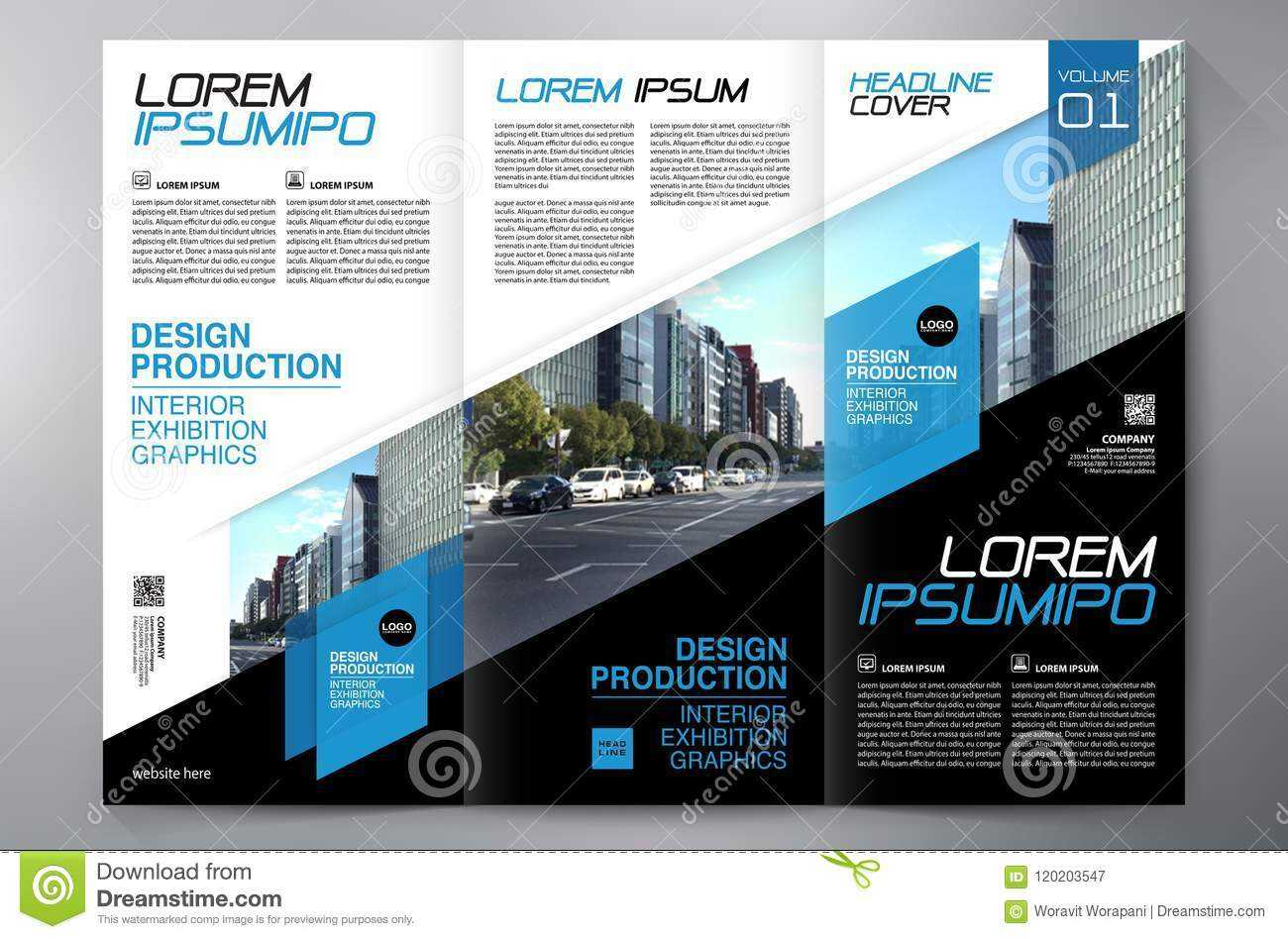 Brochure 3 Fold Flyer Design A4 Template. Stock Vector Pertaining To Engineering Brochure Templates Free Download