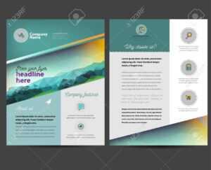Brochure Or Flyer Design Template In Letter Size intended for Letter Size Brochure Template