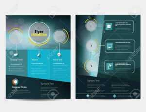 Brochure Or Flyer Design Template In Letter Size with Letter Size Brochure Template