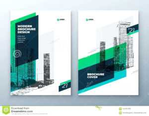Brochure Template Layout Design Corporate Business Annual within Commercial Cleaning Brochure Templates