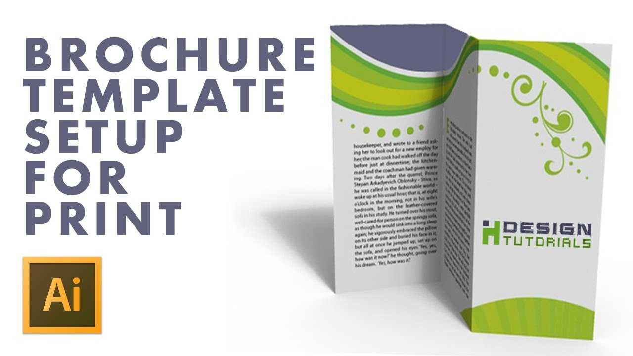 Brochure Template Setup For Print In Adobe Illustrator Intended For Brochure Templates Adobe Illustrator