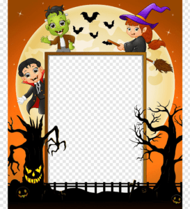 Brown, Orange, And Black Halloween-Themed Frame Template regarding Halloween Costume Certificate Template