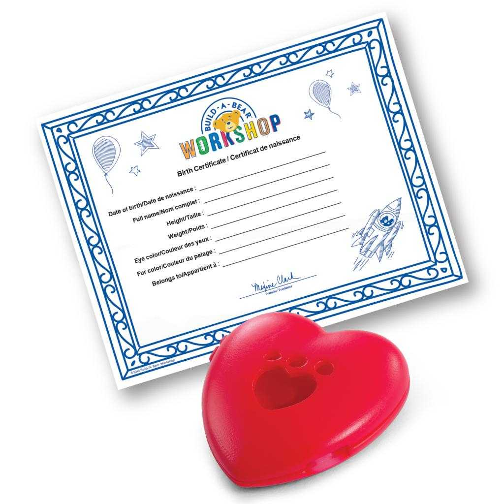 Build A Bear Build A Bear Workshop® Furry  - Spin Master With Build A Bear Birth Certificate Template