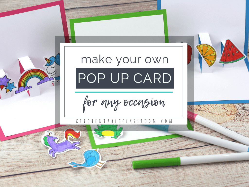 Build Your Own 3D Card With Free Pop Up Card Templates - The With Popup Card Template Free