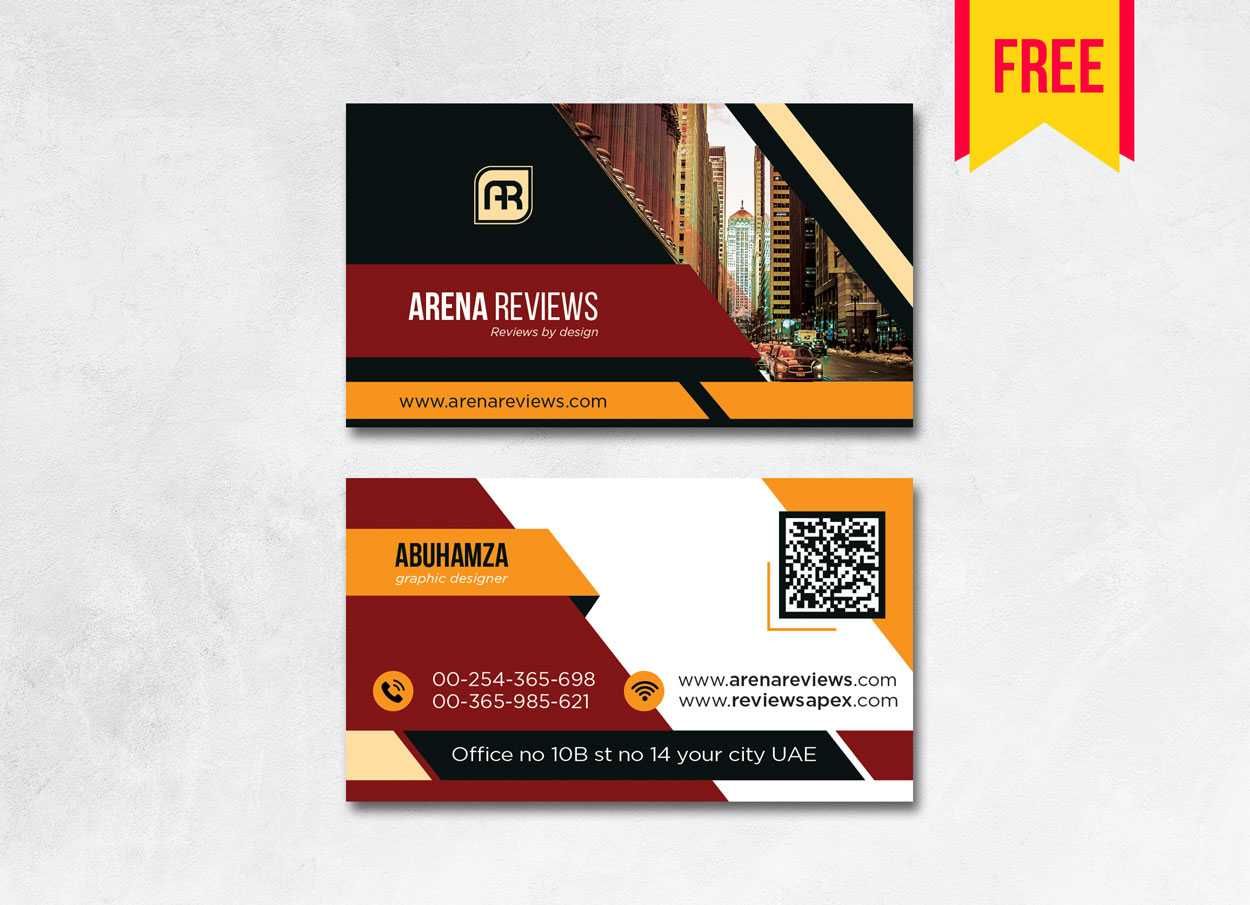 Building Business Card Design Psd - Free Download | Arenareviews With Business Card Size Template Psd