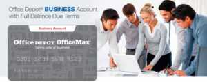 Business Account Full Balance Due Terms within Office Depot Business Card Template