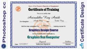 Business-Adobe Certified Expert In Photoshop -Certificate throughout Track And Field Certificate Templates Free