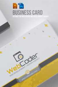 Business Card Design For Web Design And Developer Psd Template within Web Design Business Cards Templates