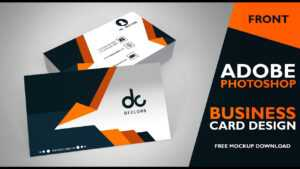 Business Card Design In Photoshop Cs6 | Front | Photoshop Tutorial pertaining to Visiting Card Templates For Photoshop