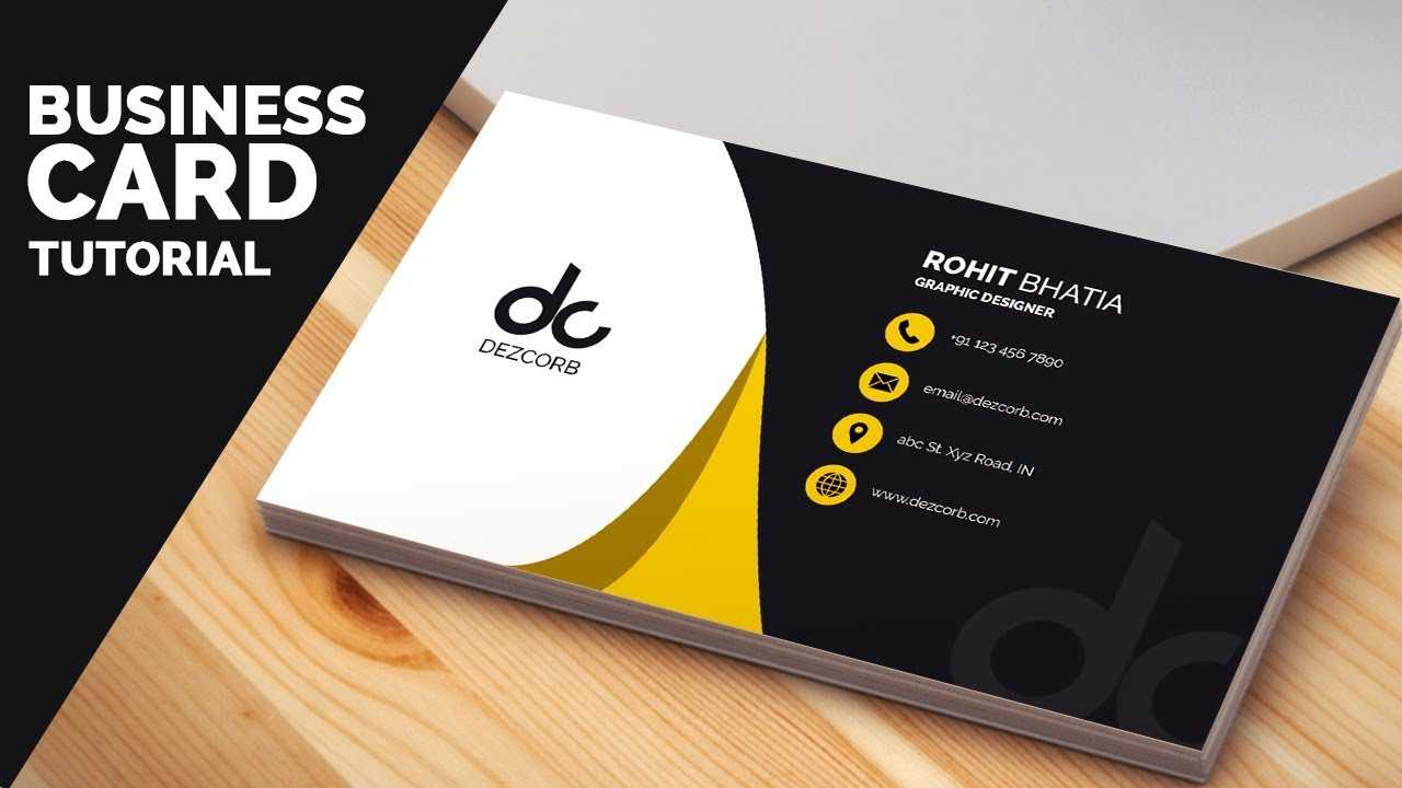 Business Card Design In Photoshop Cs6 Tutorial | Learn Photoshop Front Inside Visiting Card Templates For Photoshop