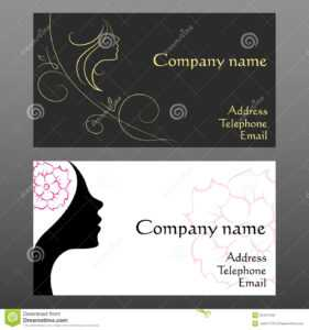 Business Card For Hairdressers Stock Vector – Illustration intended for Hairdresser Business Card Templates Free