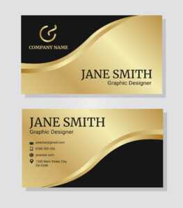 Business Card Gold Free Vector Art – (3,225 Free Downloads) pertaining to Designer Visiting Cards Templates