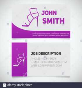 Business Card Print Template With High Heel Shoe Logo in High Heel Shoe Template For Card