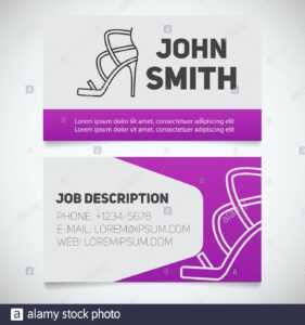 Business Card Print Template With High Heel Shoe Logo inside High Heel Shoe Template For Card