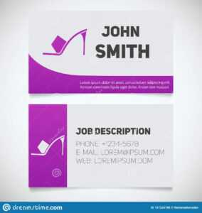 Business Card Print Template With High Heel Shoe Logo Stock inside High Heel Template For Cards