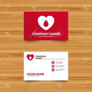 Business Card Template. Blood Donation Sign Icon. Medical Donation in Donation Card Template Free