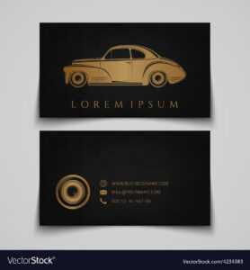 Business Card Template Classic Car Logo inside Automotive Business Card Templates