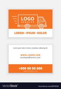 Business Card Template Delivery Service inside Transport Business Cards Templates Free