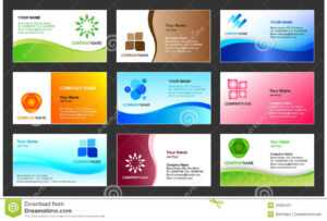 Business Card Template Design Stock Vector – Illustration Of throughout Templates For Visiting Cards Free Downloads