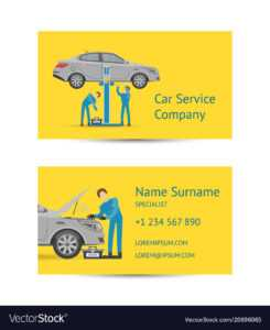 Business Card Template For Auto Service pertaining to Automotive Business Card Templates