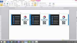 Business Card Template For Microsoft Word with Business Cards Templates Microsoft Word