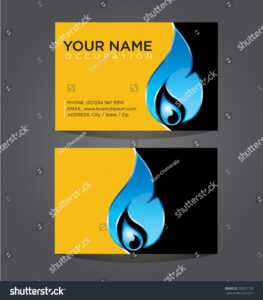 Business Card Template Plumbing Heating Air Stock Vector regarding Hvac Business Card Template