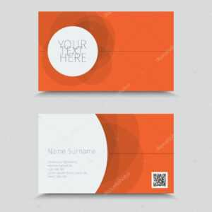 Business Card Template With Qr Code | Visit Card With Qr intended for Qr Code Business Card Template