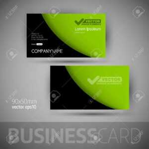 Business Card Template With Sample Texts. Elegant Vector Design.. with Calling Card Free Template