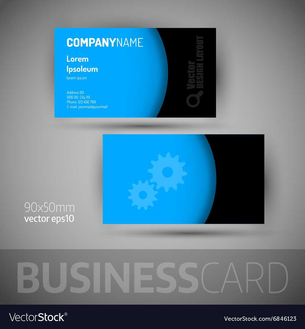 Business Card Template With Sample Texts Inside Calling Card Free Template