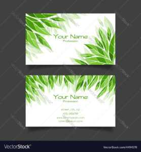 Business Card With Green Leaves Template with Christian Business Cards Templates Free