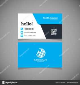 Business Card With Qr Code Template | Business Card Template regarding Qr Code Business Card Template