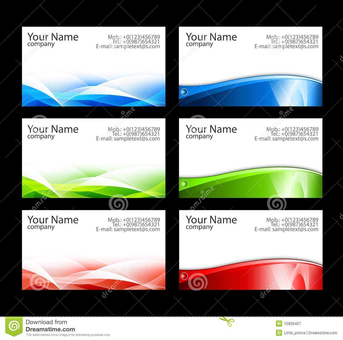 Business Cards Templates Stock Illustration. Illustration Of Regarding Calling Card Free Template