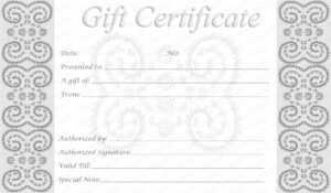 Business Gift Certificate Template (50+ Editable & Printable within Microsoft Gift Certificate Template Free Word