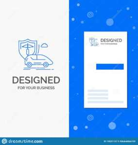 Business Logo For Car, Hand, Insurance, Transport, Safety for Car Insurance Card Template Download