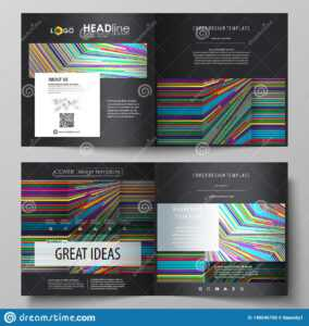 Business Templates For Square Design Bi Fold Brochure, Flyer within Fold Over Business Card Template