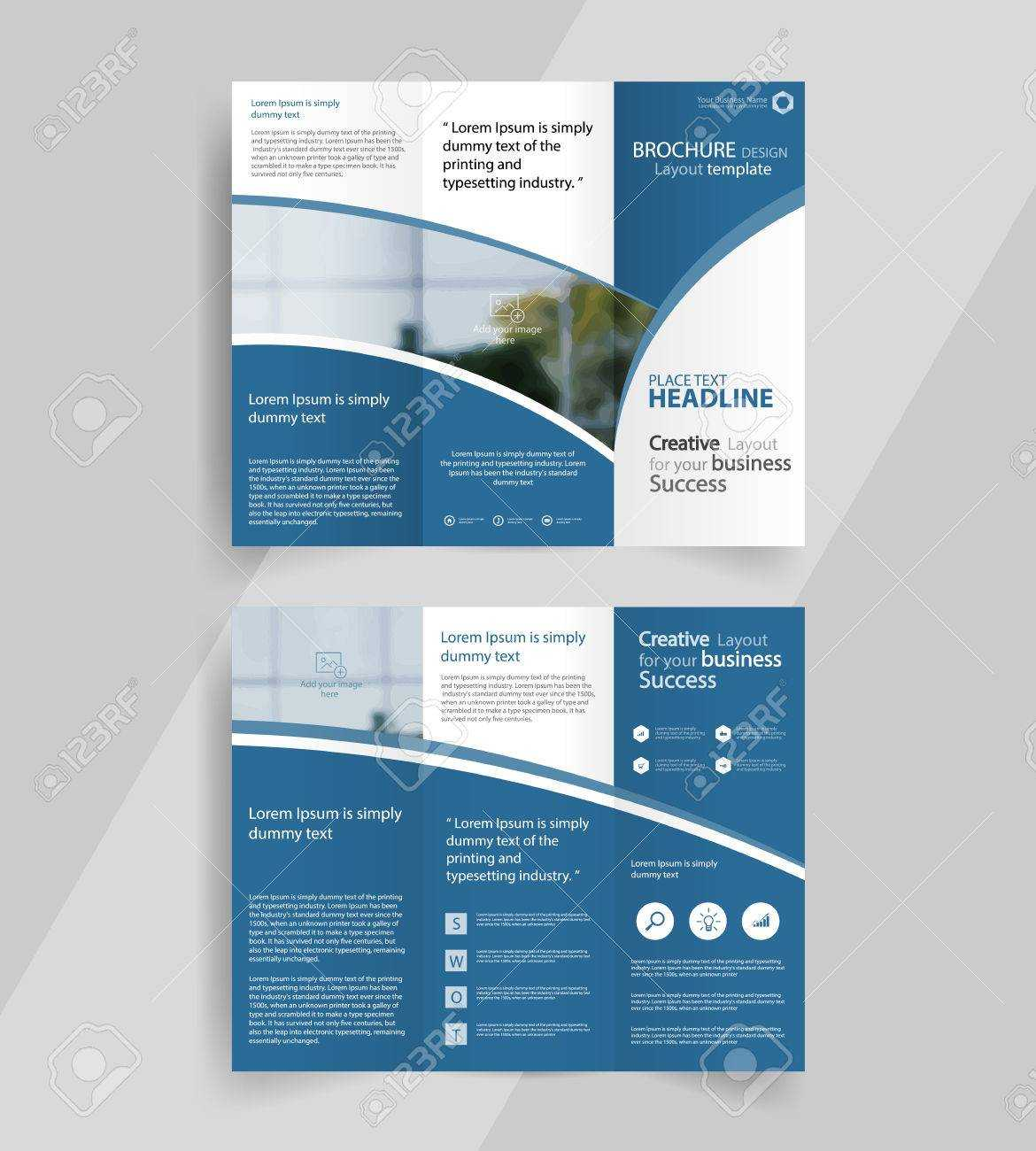 Business Tri Fold Brochure Layout Design ,vector A4 Brochure.. Intended For Tri Fold Brochure Publisher Template