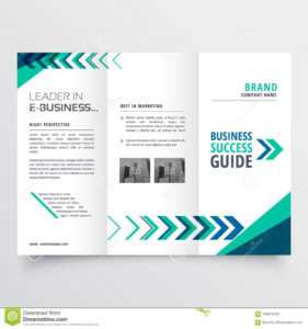 Business Tri Fold Brochure Template Design With Geometric pertaining to Tri Fold Brochure Template Illustrator Free