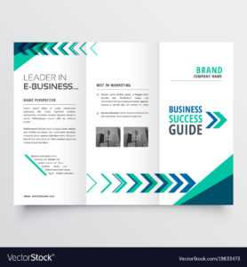 Business Tri Fold Brochure Template Design With in Tri Fold Brochure Template Illustrator