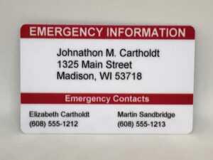 Buy Medical Id Emergency Wallet Card In Cheap Price On in Medical Alert Wallet Card Template