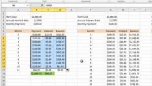 Calculating Credit Card Payments In Excel 2010 regarding Credit Card Statement Template Excel
