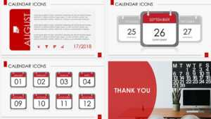 Calendar Icons Free Powerpoint Template with regard to Microsoft Powerpoint Calendar Template