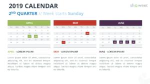 Calendar Templates For Powerpoint – Oflu.bntl within Microsoft Powerpoint Calendar Template