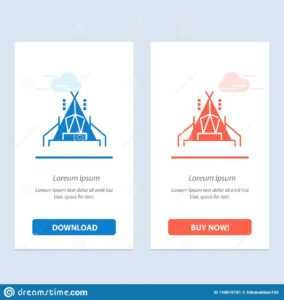 Camp, Tent, Camping Blue And Red Download And Buy Now Web throughout Free Tent Card Template Downloads