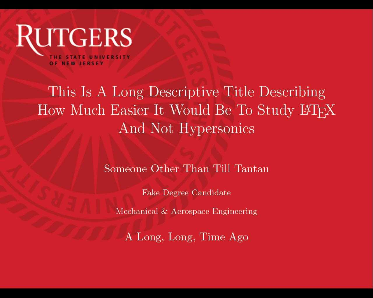 Can I Specify Title Page Customization In A Template Instead Pertaining To Rutgers Powerpoint Template