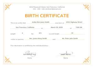Can Make A Delivery Certificate Crucial | Gift Certificate in Editable Birth Certificate Template