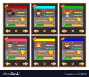 Card Game Template With Characters And Buttons regarding Template For Game Cards