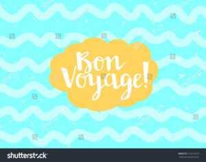 Card Minimal Style Vector Templates Bon Stock Vector regarding Bon Voyage Card Template